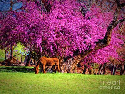 Photograph - Grazing Horse  ... by Chuck Caramella
