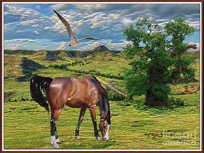 Grazing Horse Original by Pemaro