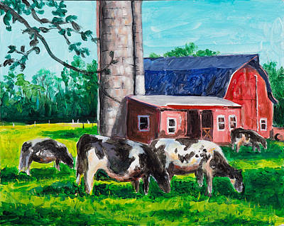 Painting - Grazing In The Grass by David Burke
