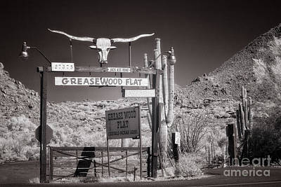Photograph - Greasewood Flat In Infrared by Marianne Jensen