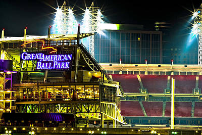 Great American Ballpark Art Print by Keith Allen
