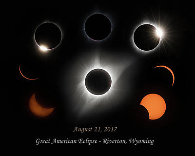 Total Eclipse Of The Sun Photograph - Great American Eclipse by Angie Vogel