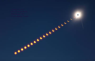 Total Eclipse Of The Sun Photograph - Great American Eclipse by Rocke Verser