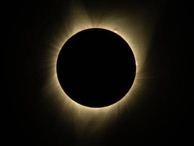Photograph - Great American Eclipse Totality Square As Seen In Albany, Oregon. by John King