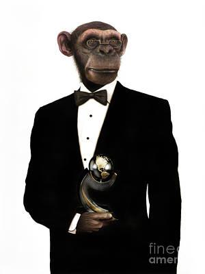 Hera Painting - Great Ape by Carlos De Las Heras