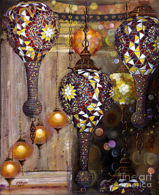 Gold Chain Painting - Great Balls Of Fire by Carol Bostan