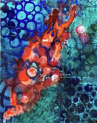 Wall Art - Mixed Media - Great Balls Of Fire by Jen Walls
