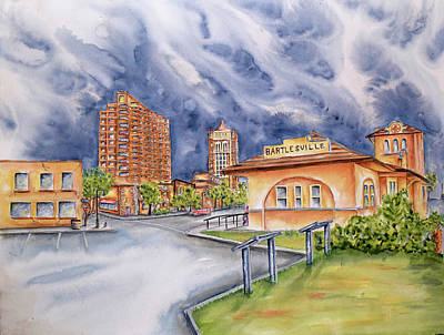 Steele Painting - Great Bartlesville Chamber by Ragon Steele