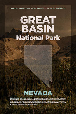 Great Basin National Park In Nevada Travel Poster Series Of National Parks Number 25 Art Print by Design Turnpike