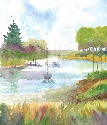 Painting - Great Bay Newington Nh  by Roseann Meserve