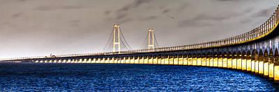 Lt Photograph - Great Belt Bridge by Gert Lavsen