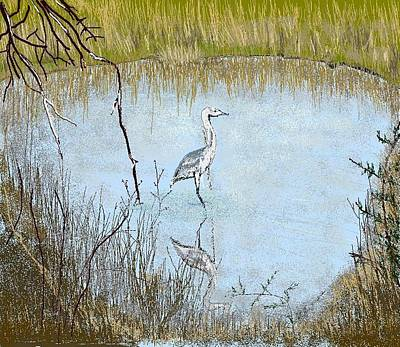 Great Blue Art Print by Carole Boyd