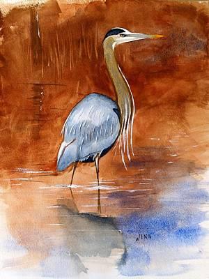 Painting - Great Blue Heron by Brett Winn