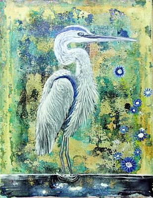 Wall Art - Painting - Great Blue Heron by Carol Iyer