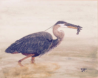 Painting - Great Blue Heron by Donald Paczynski