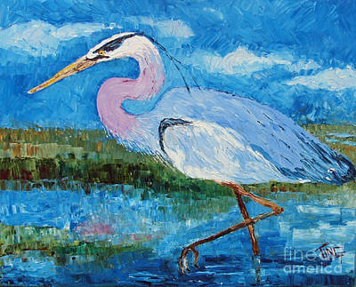 Great Blue Heron Art Print by Doris Blessington