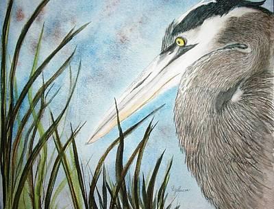 Great Blue Heron Art Print by Georgia Johnson