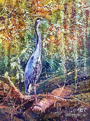 Painting Rights Managed Images - Great Blue Heron Royalty-Free Image by Hailey E Herrera