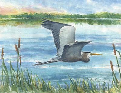 Wall Art - Painting - Great Blue Heron by Kerry Kupferschmidt