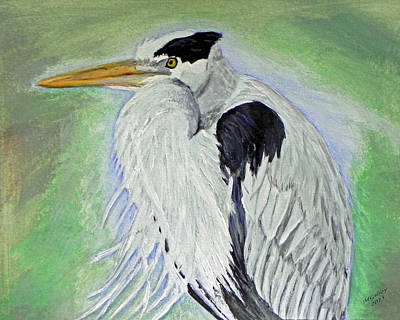 Great Blue Heron Original by M Gilroy