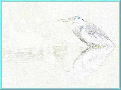 Photograph - Great Blue Heron Photo Art 010317-0948-1 by Tam Ryan