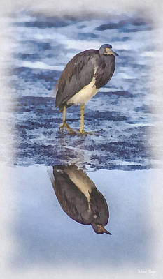 Dap Photograph - Great Blue Heron Reflection by Mark Fuge
