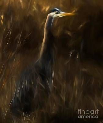 Mixed Media - Great Blue Heron by Sal Ahmed