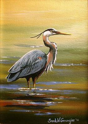 Painting - Great Blue Heron by Sarah Grangier