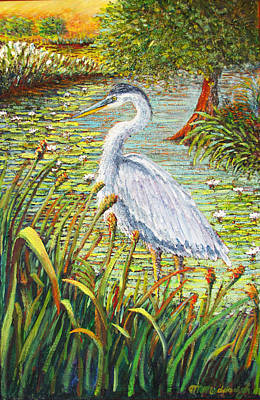 Painting - Great Blue Heron by Thomas Michael Meddaugh
