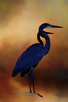 Photograph - Great Blue Herons by Theresa Campbell