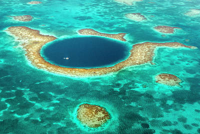 Photograph - Great Blue Hole by Evgeny Vasenev