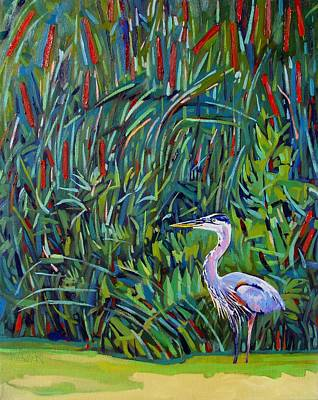 Thousand Islands Painting - Great Blue by Phil Chadwick
