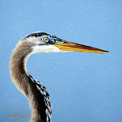 Painting - Great Blue Walter by Joan Garcia