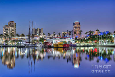 Photograph - Great Blue Water Reflections by David Zanzinger