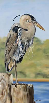 Great Blue Heron Standing Art Print