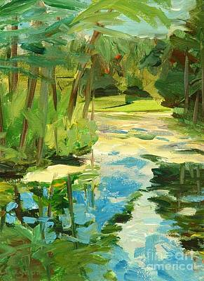 Painting - Great Brook Farm Canoe Launch by Claire Gagnon
