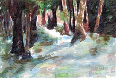 Painting - Great Brook Farm Winter Beauty by Claire Gagnon