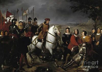 Great Captain Gonzalo De Cordoba After The Battle Of Cerignola Art Print by Celestial Images