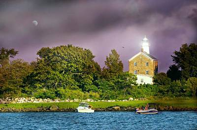 Photograph - Great Captain Island Lighthouse by Diana Angstadt