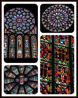 Photograph - Great Cathedral Windows Of France by Jacqueline M Lewis