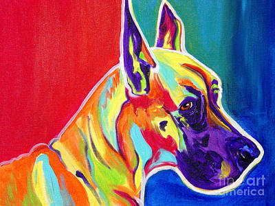 Dawgart Painting - Great Dane - Rainbow Dane by Alicia VanNoy Call