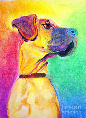 Great Dane - Rapture Art Print by Alicia VanNoy Call