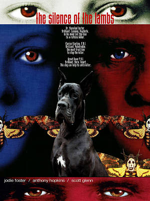 Painting - Great Dane Art Canvas Print - The Silence Of The Lambs Movie Poster by Sandra Sij