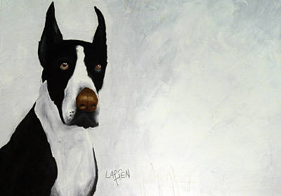 Great Dane Art Print by Dick Larsen