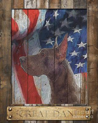 Digital Art - Great Dane Flag Poster 1 by Tim Wemple