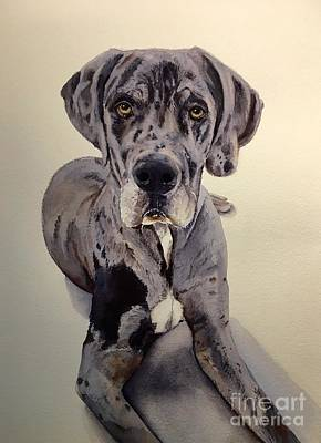 Painting - Great Dane by Kathy Flood