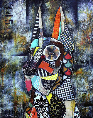 Mixed Media - Great Dane by Patricia Lintner