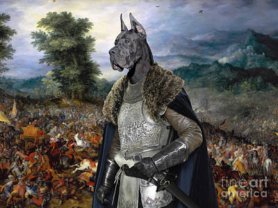 Painting - Great Dane - The Decisive Battle by Sandra Sij