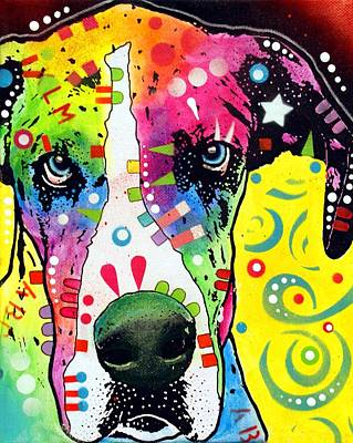 Dog Mixed Media - Great Dane Warpaint by Dean Russo