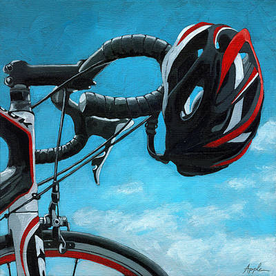 Painting - Great Day - Bicycle Oil Painting by Linda Apple